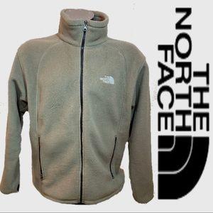 The North Face Tan Fleece Zip Up Jacket